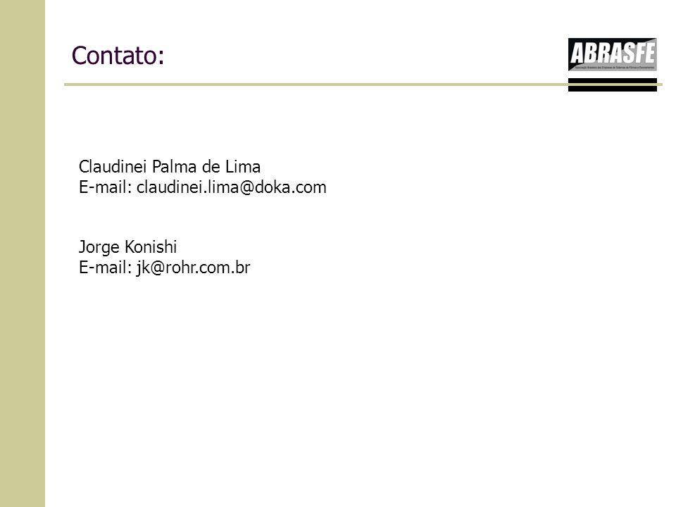 Contato: Claudinei Palma de Lima E-mail: claudinei.lima@doka.com