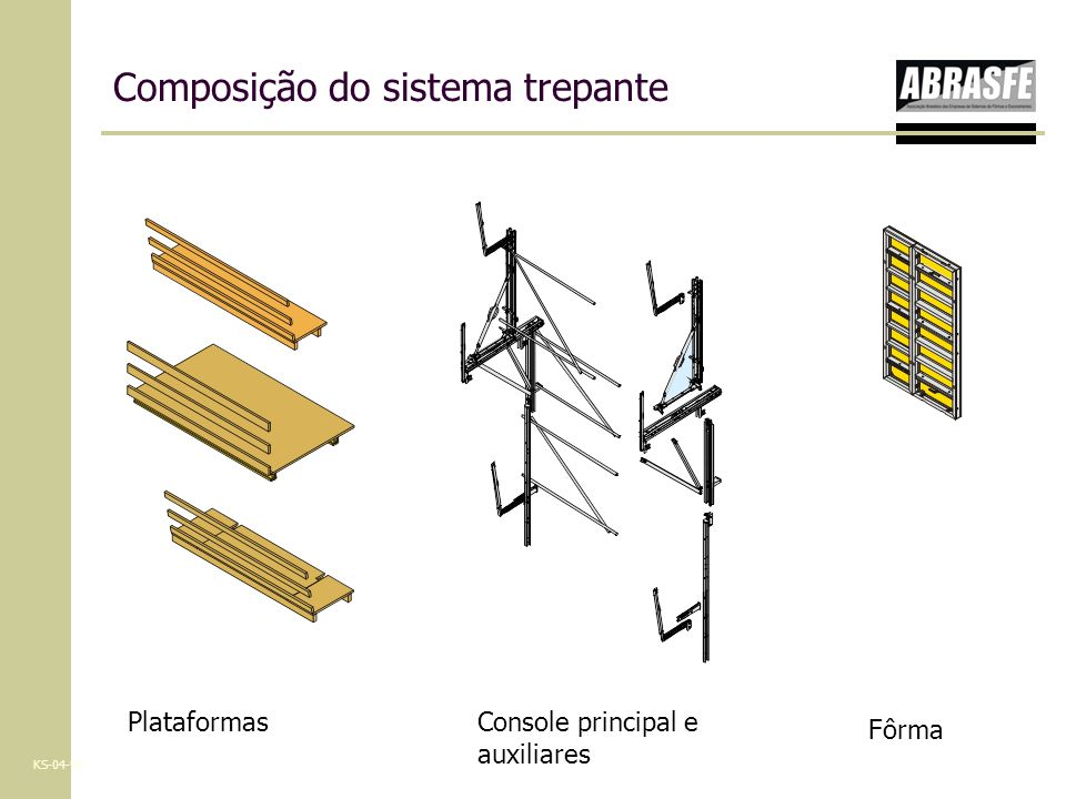 Composição do sistema trepante