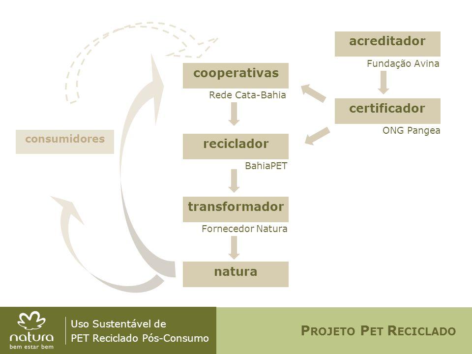 PROJETO PET RECICLADO acreditador cooperativas certificador reciclador