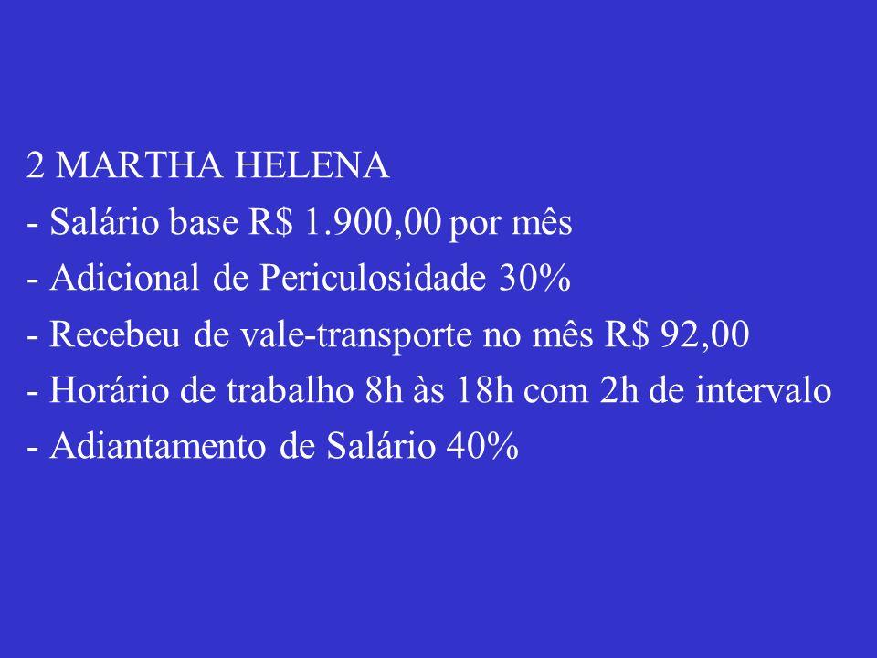 2 MARTHA HELENA - Salário base R$ 1
