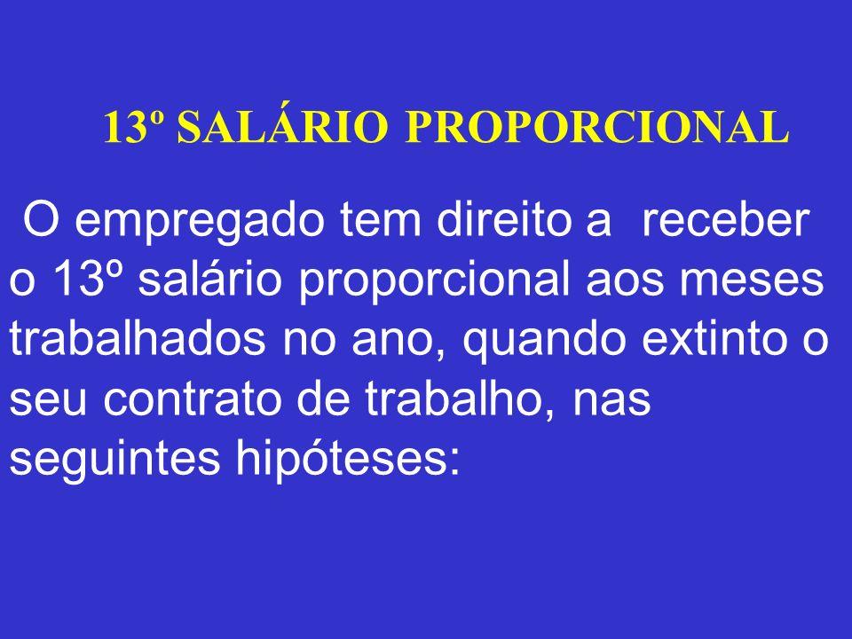 13º SALÁRIO PROPORCIONAL