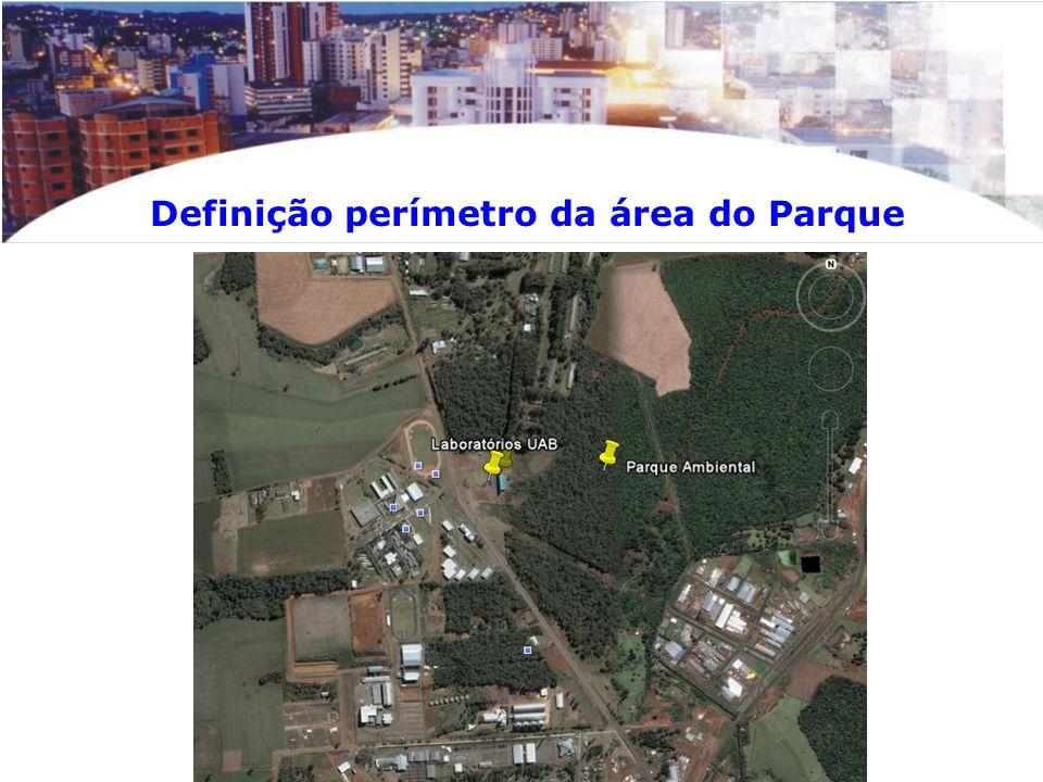 Definição perímetro da área do Parque