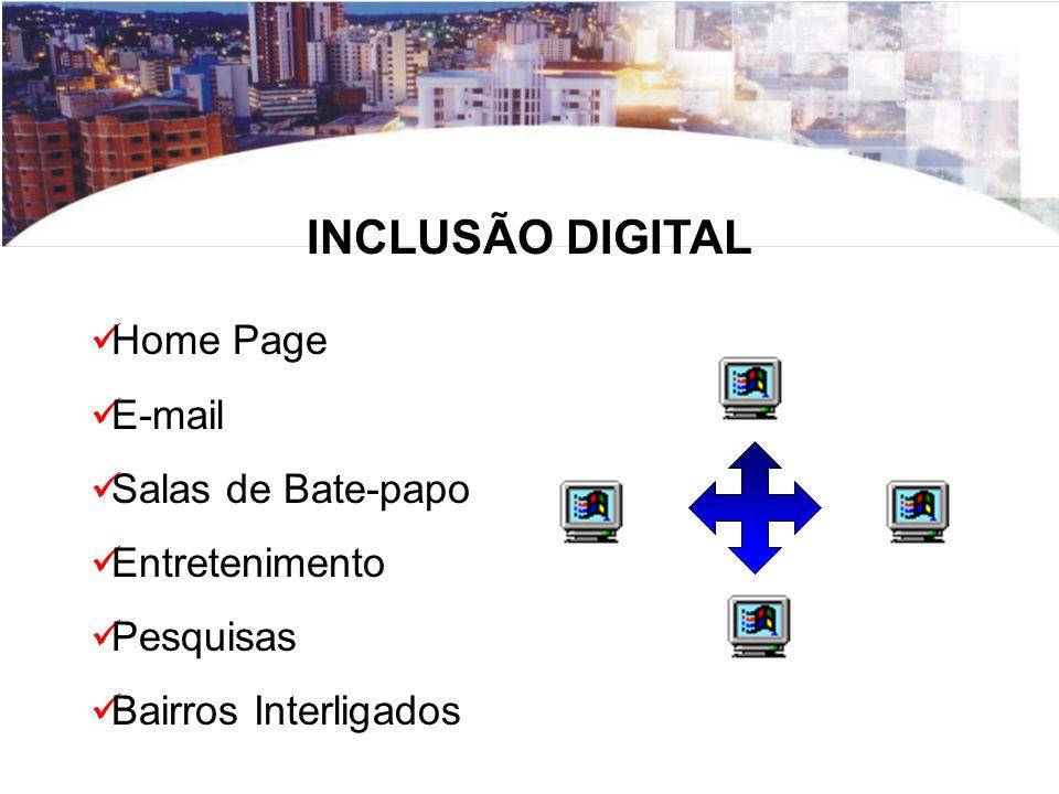 INCLUSÃO DIGITAL Home Page E-mail Salas de Bate-papo Entretenimento
