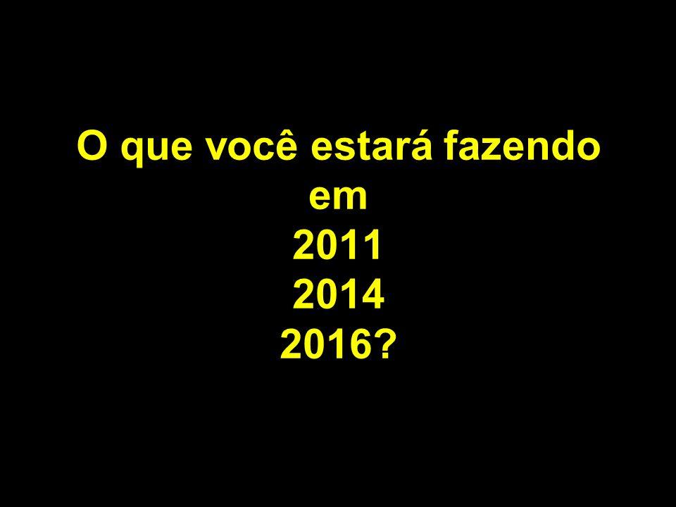 O que você estará fazendo em 2011 2014 2016