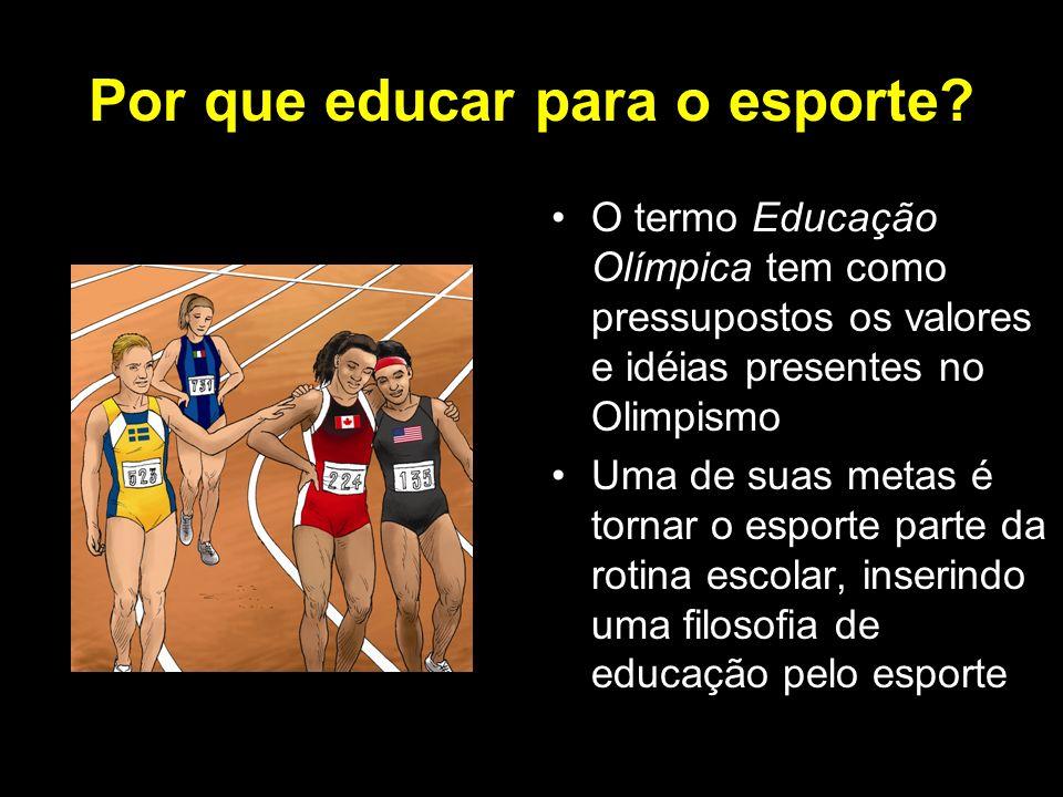 Por que educar para o esporte