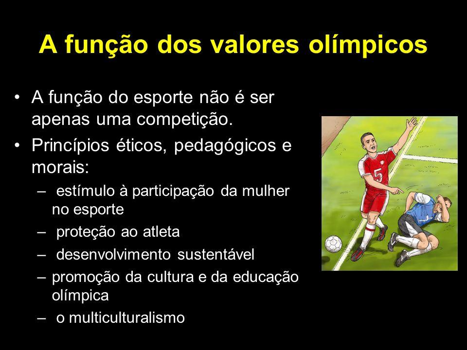 A função dos valores olímpicos