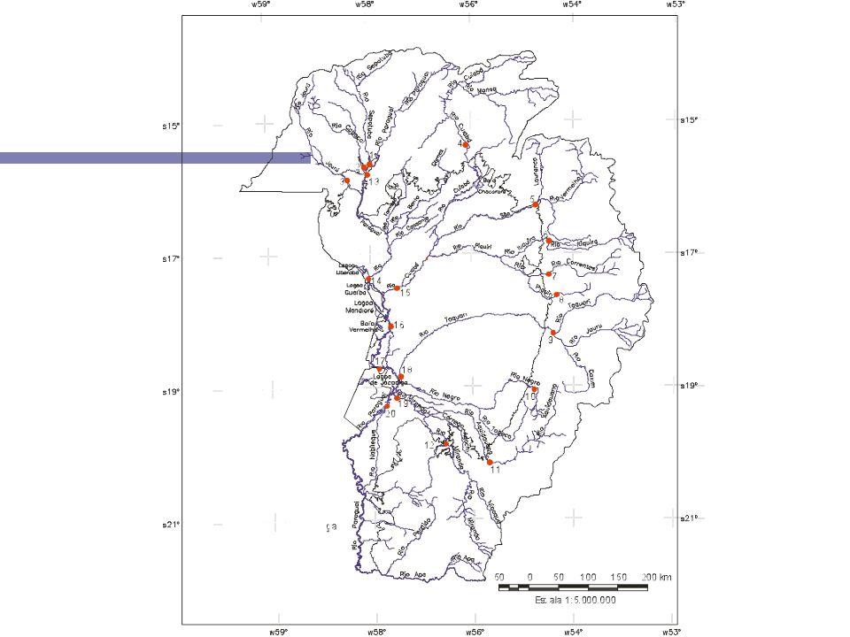 Divisão dos Pantanais por área e tempo de inundação (Hamilton et al