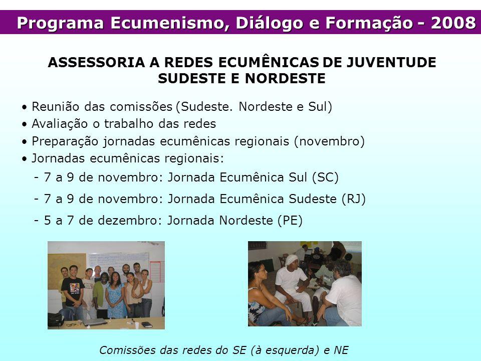 ASSESSORIA A REDES ECUMÊNICAS DE JUVENTUDE