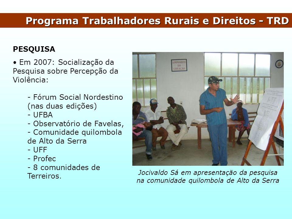 Programa Trabalhadores Rurais e Direitos - TRD