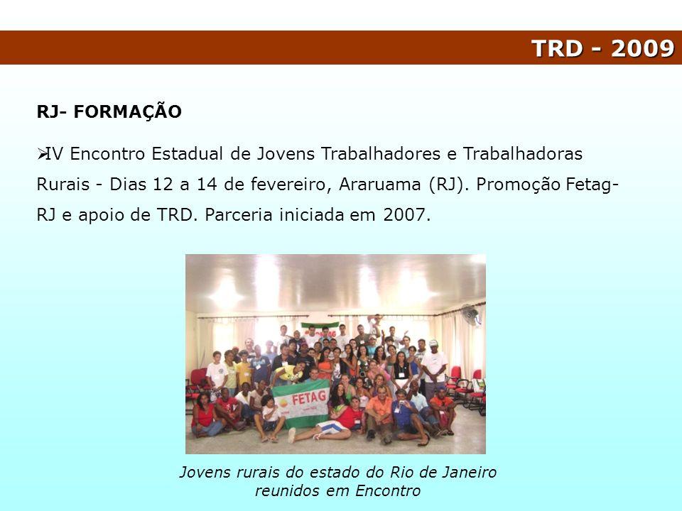Jovens rurais do estado do Rio de Janeiro reunidos em Encontro