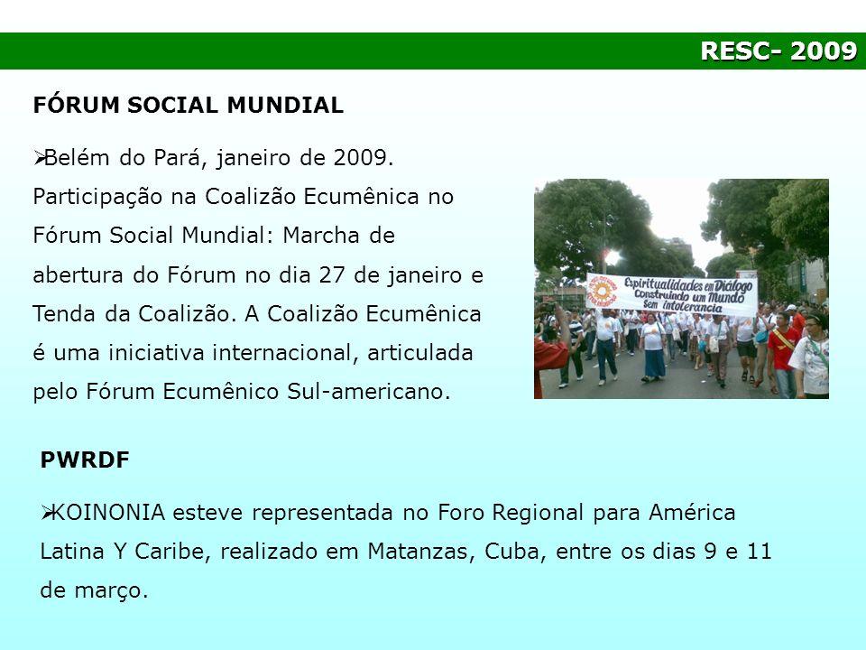 RESC- 2009 FÓRUM SOCIAL MUNDIAL