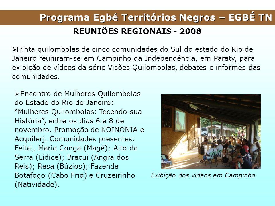 Programa Egbé Territórios Negros – EGBÉ TN