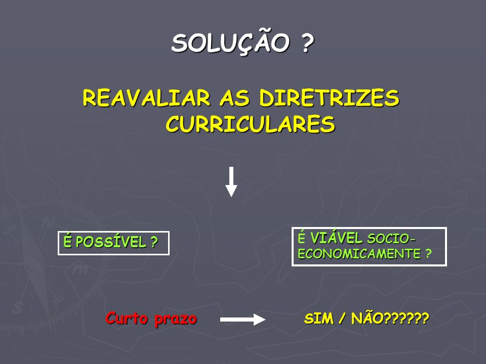 REAVALIAR AS DIRETRIZES CURRICULARES
