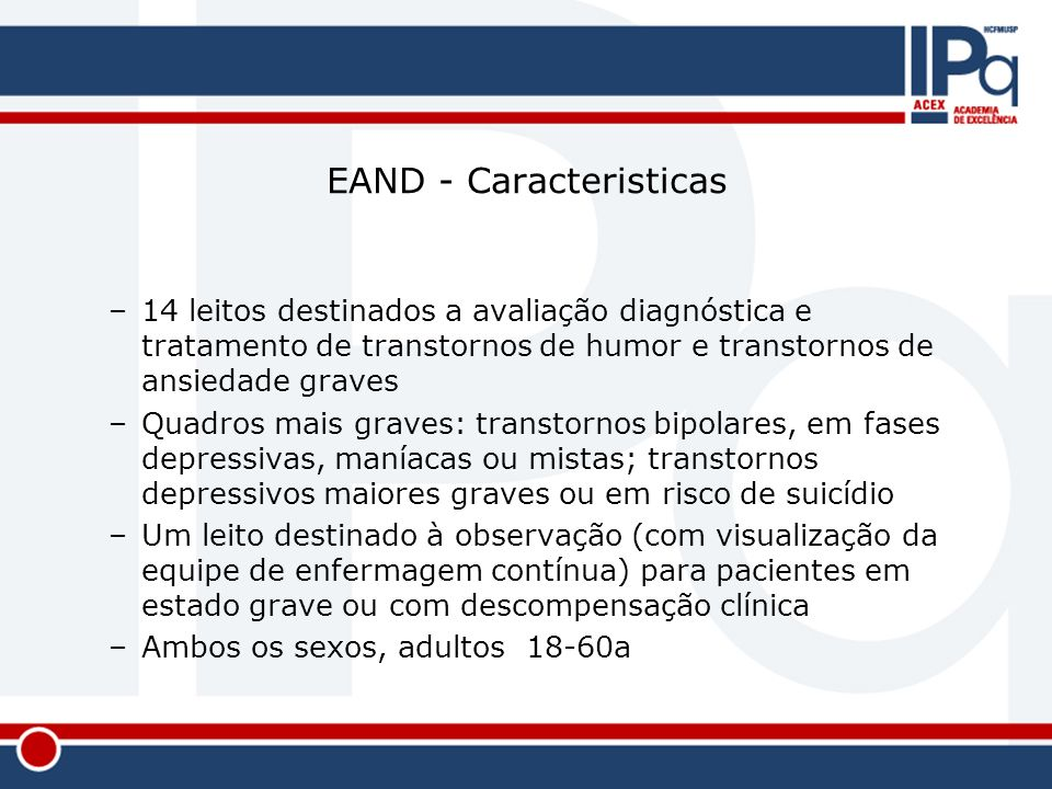 EAND - Caracteristicas