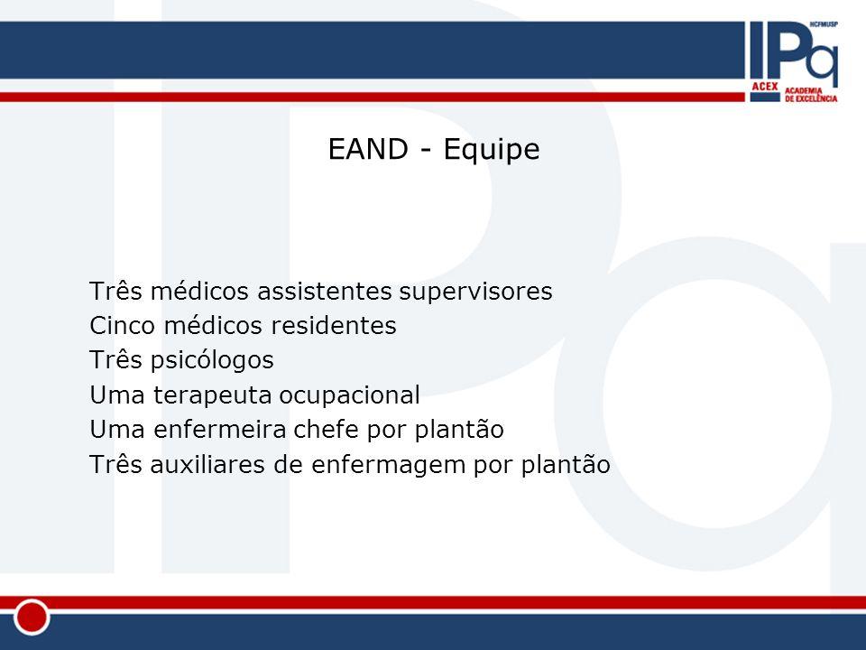 EAND - Equipe Três médicos assistentes supervisores