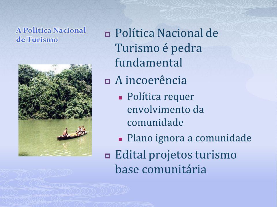 A Política Nacional de Turismo