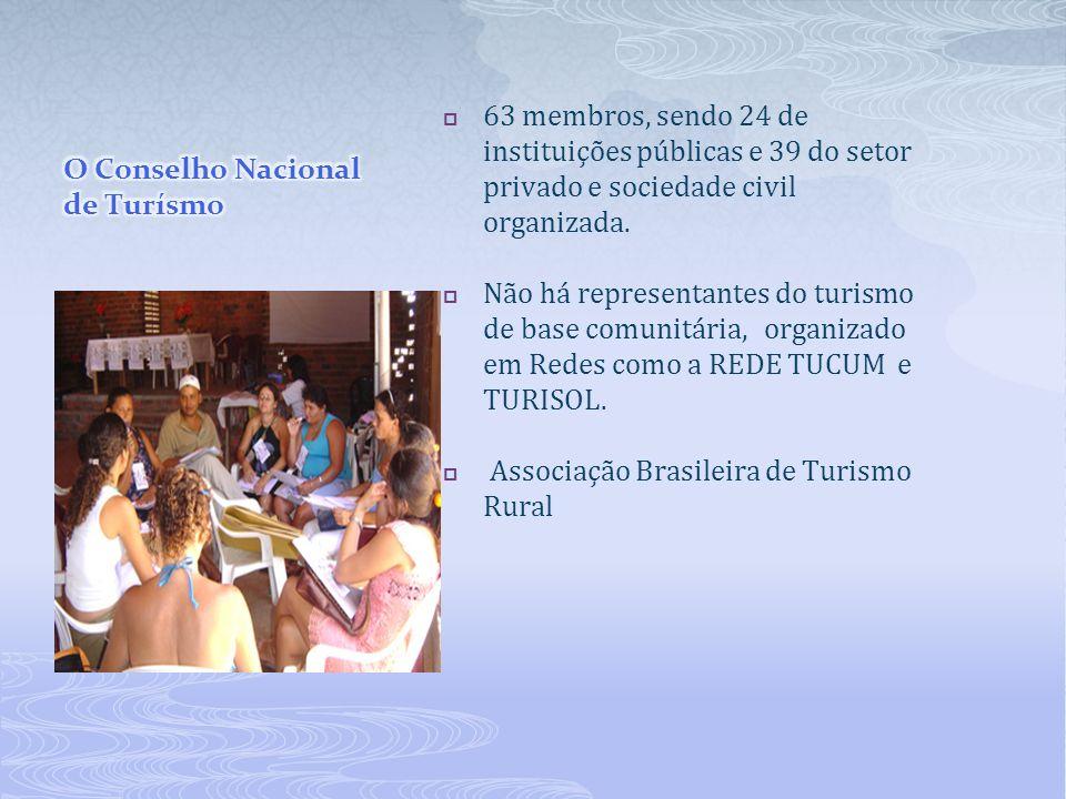 O Conselho Nacional de Turísmo