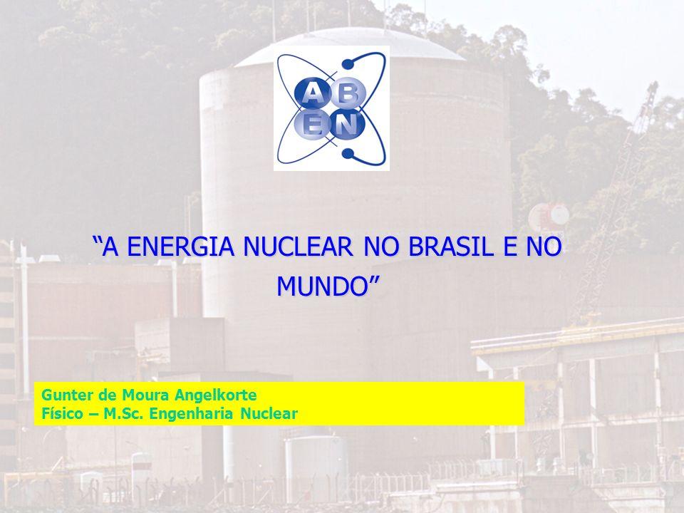 A ENERGIA NUCLEAR NO BRASIL E NO MUNDO