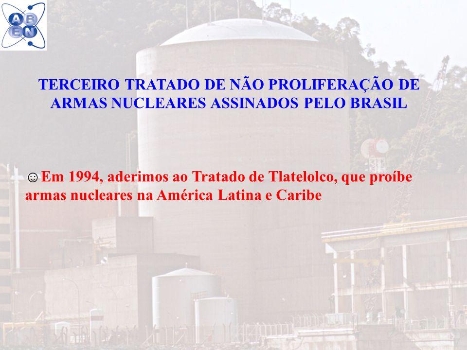 TERCEIRO TRATADO DE NÃO PROLIFERAÇÃO DE ARMAS NUCLEARES ASSINADOS PELO BRASIL