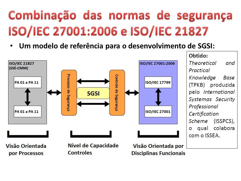 Combinação das normas de segurança ISO/IEC 27001:2006 e ISO/IEC 21827