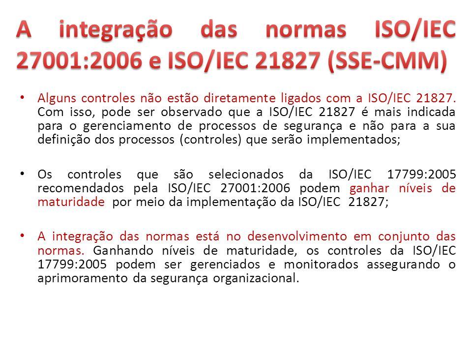 A integração das normas ISO/IEC 27001:2006 e ISO/IEC 21827 (SSE-CMM)