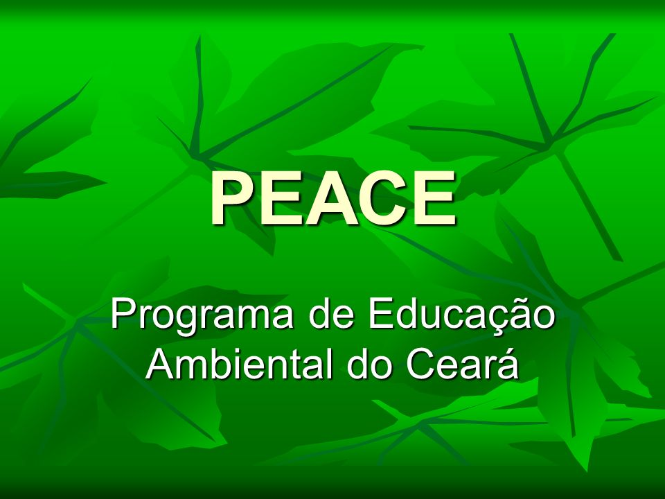 Programa de Educação Ambiental do Ceará