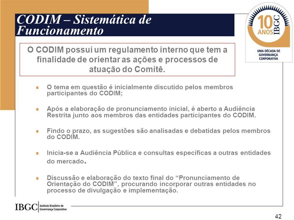 CODIM – Sistemática de Funcionamento