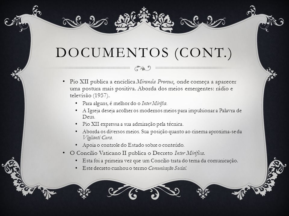 Documentos (cont.)