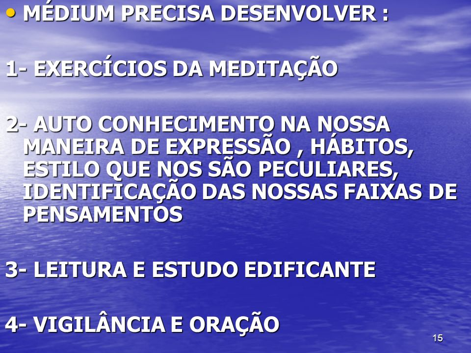 MÉDIUM PRECISA DESENVOLVER :