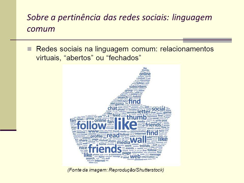 Sobre a pertinência das redes sociais: linguagem comum