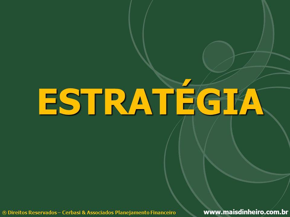 ESTRATÉGIA® Direitos Reservados – Cerbasi & Associados Planejamento Financeiro www.maisdinheiro.com.br.