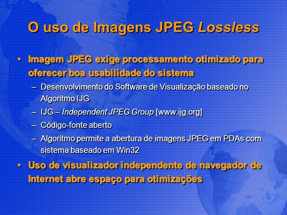 O uso de Imagens JPEG Lossless