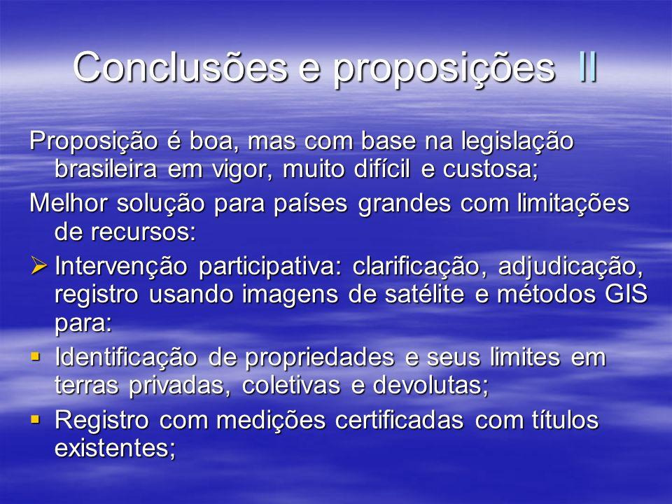 Conclusões e proposições II