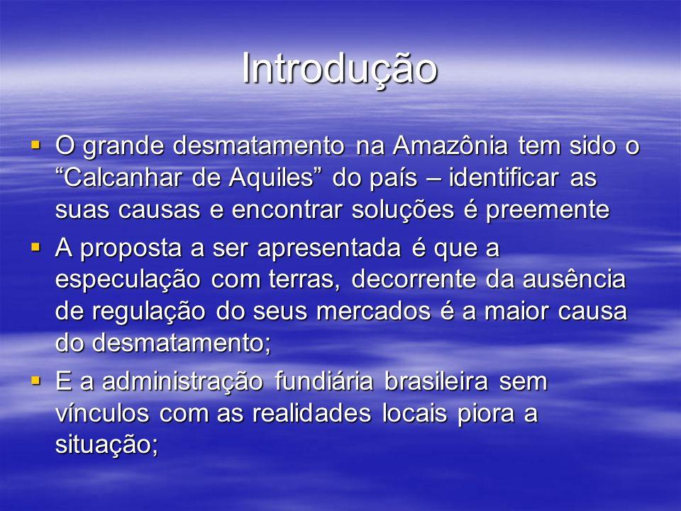 Introdução O grande desmatamento na Amazônia tem sido o Calcanhar de Aquiles do país – identificar as suas causas e encontrar soluções é preemente.