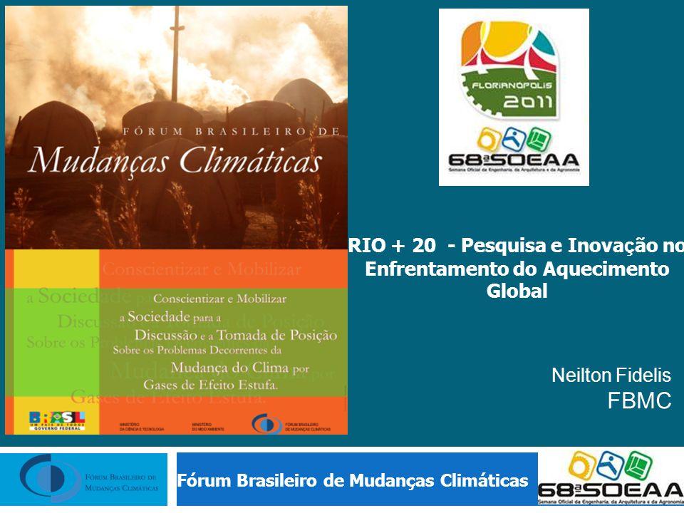 RIO + 20 - Pesquisa e Inovação no Enfrentamento do Aquecimento Global