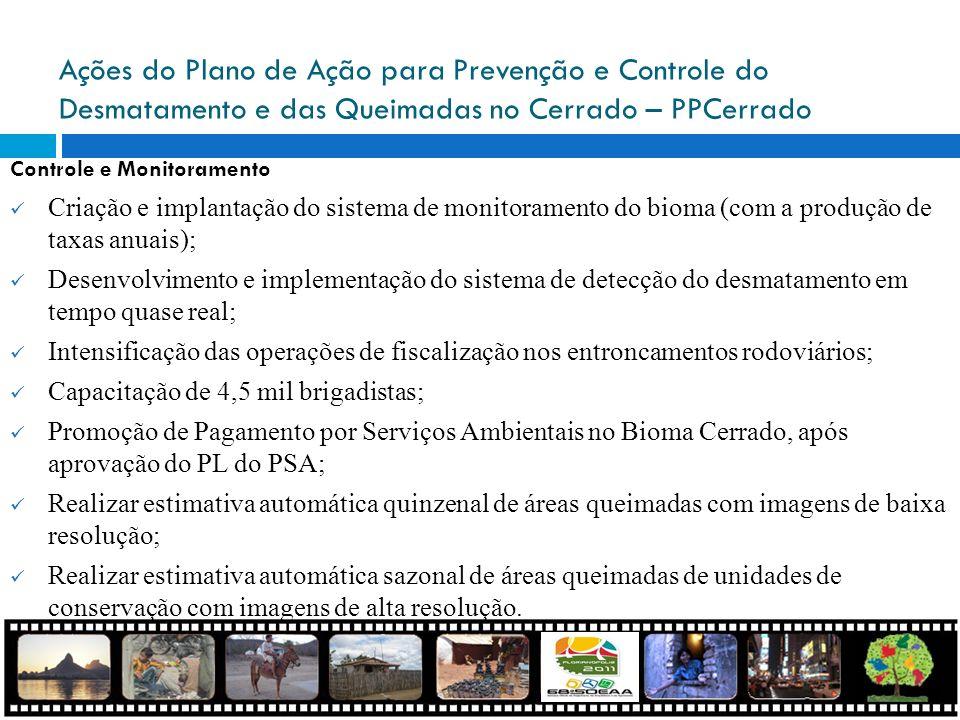 Ações do Plano de Ação para Prevenção e Controle do Desmatamento e das Queimadas no Cerrado – PPCerrado