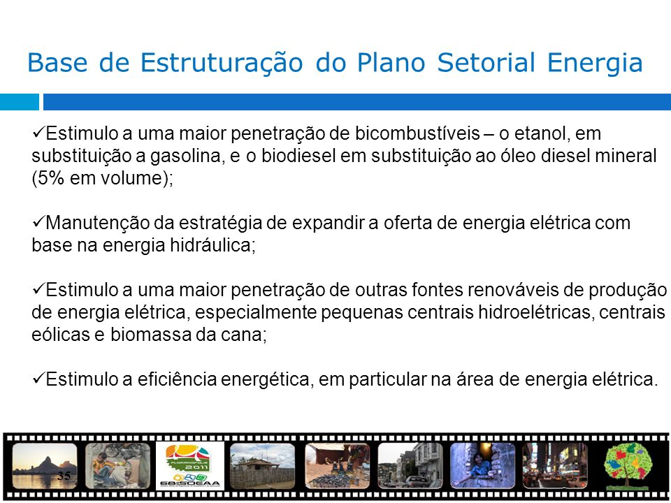 Base de Estruturação do Plano Setorial Energia