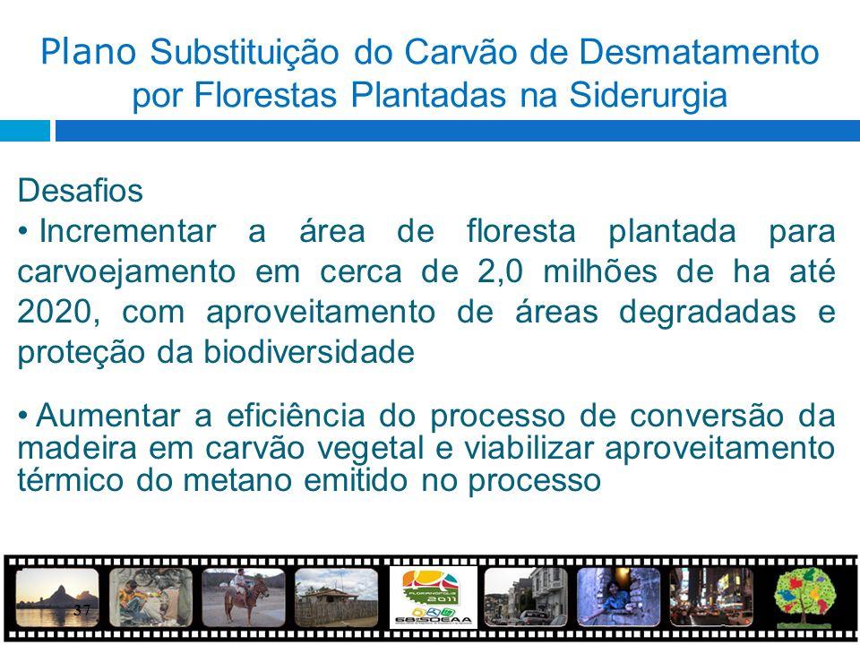 Plano Substituição do Carvão de Desmatamento por Florestas Plantadas na Siderurgia