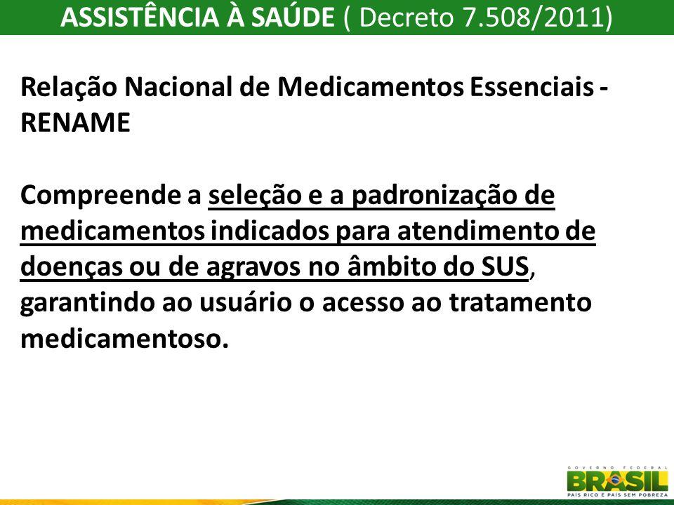 ASSISTÊNCIA À SAÚDE ( Decreto 7.508/2011)
