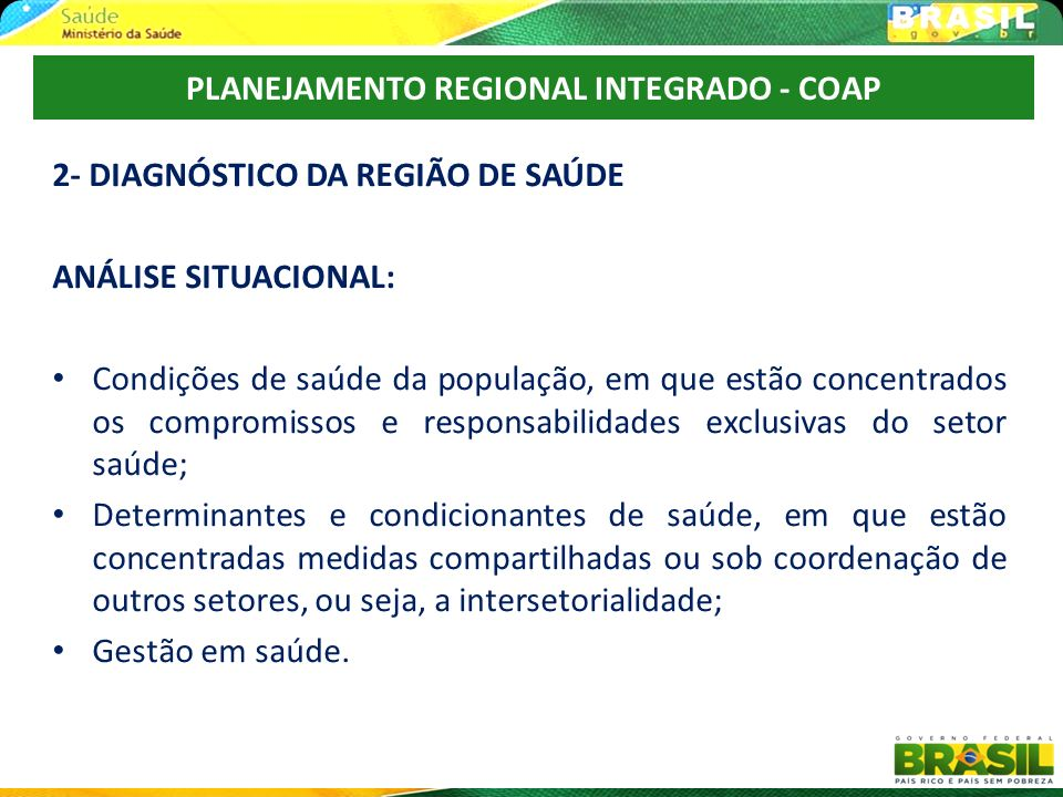 PLANEJAMENTO REGIONAL INTEGRADO - COAP