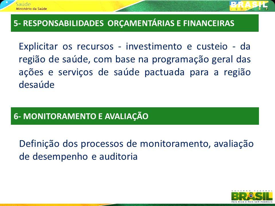 5- RESPONSABILIDADES ORÇAMENTÁRIAS E FINANCEIRAS