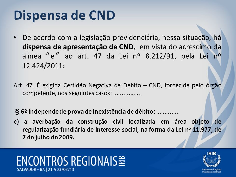 Dispensa de CND