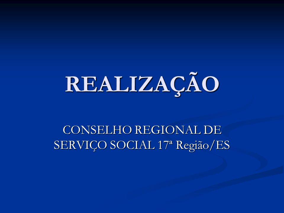 CONSELHO REGIONAL DE SERVIÇO SOCIAL 17ª Região/ES