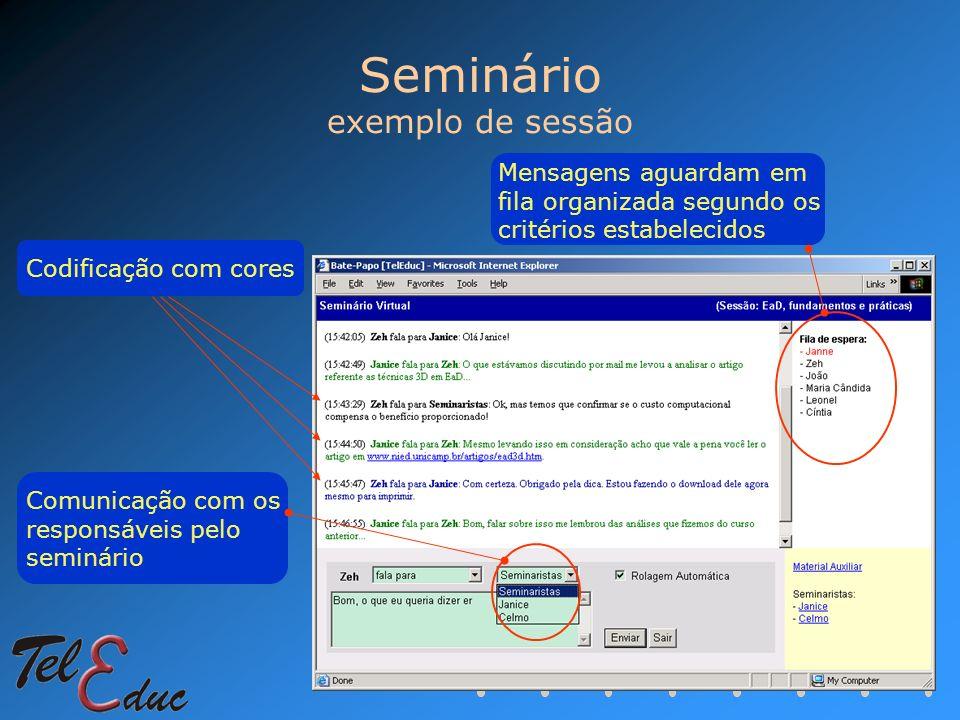 Seminário exemplo de sessão