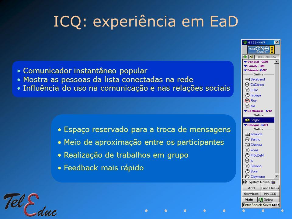 ICQ: experiência em EaD