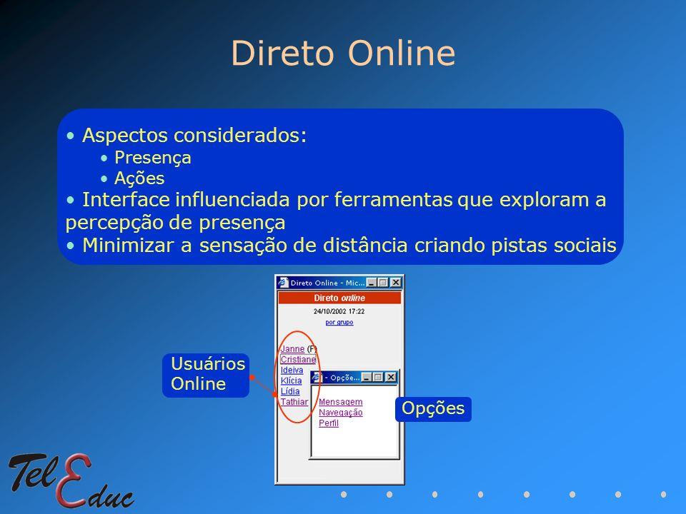 Direto Online Aspectos considerados: