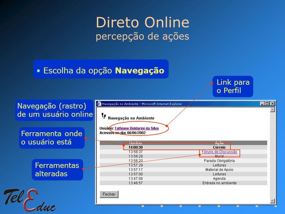 Direto Online percepção de ações