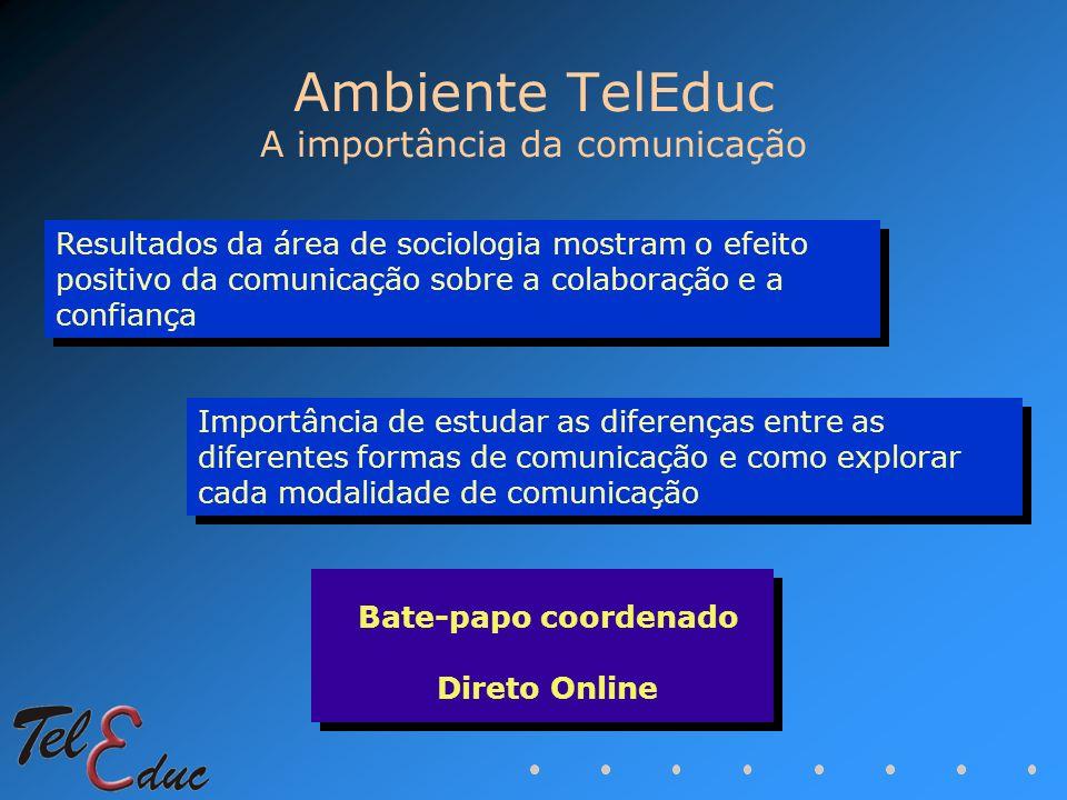 Ambiente TelEduc A importância da comunicação