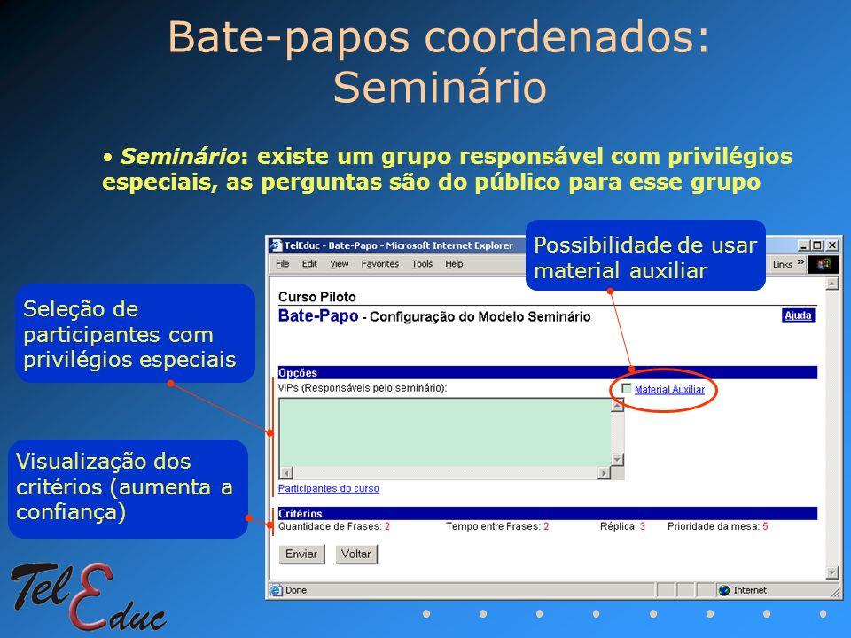 Bate-papos coordenados: Seminário