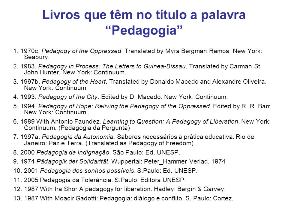 Livros que têm no título a palavra Pedagogia